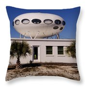 Flying Saucer House Throw Pillow