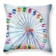 Flying Saucers Throw Pillow