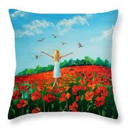 Flying Soul Throw Pillow