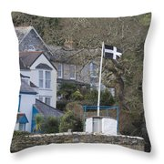 Flying The Flag For Cornwall Throw Pillow
