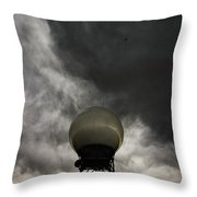 Flying The Friendly Skies Throw Pillow
