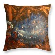Flying Through Fire Throw Pillow