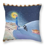 Flying Thru The Time Frame Throw Pillow