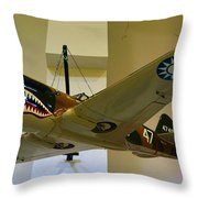 Flying Tigers Aircraft Throw Pillow