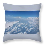 Flying To Toronto, July 2014 Throw Pillow