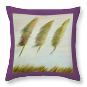 Flying Trees Throw Pillow