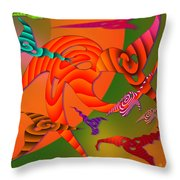 Flying Triangles Throw Pillow
