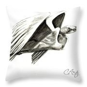 Flying Your Way Throw Pillow