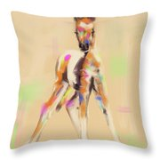 Foal Cute Fellow Throw Pillow by Go Van Kampen