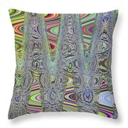 Foam On The Beach Abstract Throw Pillow