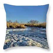 Foam On The Water Throw Pillow