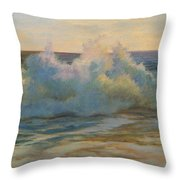 Foaming Ocean Waves Throw Pillow