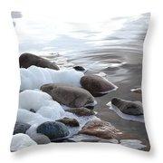 Foamy Rocks Throw Pillow