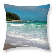 Foamy Surf Throw Pillow