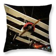 Focker Tri-plane Throw Pillow