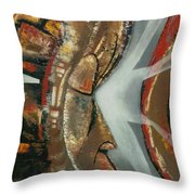 Focus And Determination Throw Pillow