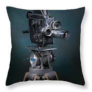 Focus In Blue Throw Pillow by Break The Silhouette