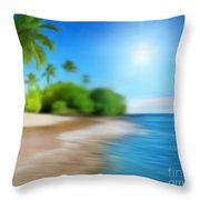 Focus On Palm Tree Throw Pillow