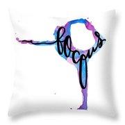 Focus Yoga 24 X 36 Throw Pillow