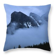 Fog And Clouds Throw Pillow