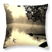 Fog And Light In Sepia Throw Pillow