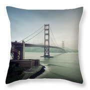 Fog And The Bridge Throw Pillow