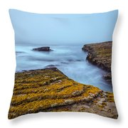Fog And The Sea Throw Pillow