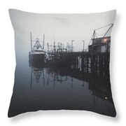 Fog Before Sunrise Throw Pillow