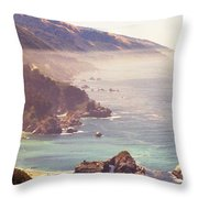 Fog Big Sur Throw Pillow