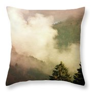 Fog Competes With Sun Throw Pillow