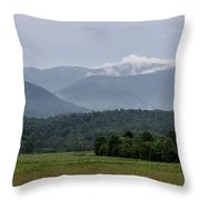 Fog Forming In The Mountains Throw Pillow