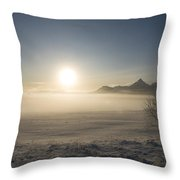 Fog In Lofoten 1 Throw Pillow