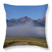 Fog In The Fast Lane Throw Pillow