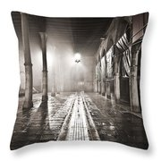 Fog In The Market Throw Pillow