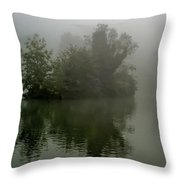 Fog In The Park- Warminster Throw Pillow