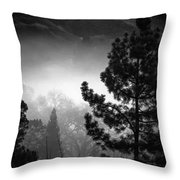Fog In The Trees Throw Pillow