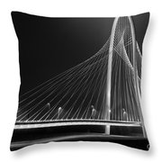 Fog Light And Lines II Throw Pillow