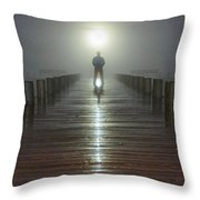 Fog Man Throw Pillow