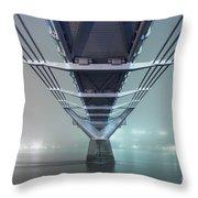 Fog - Millennium Bridge Throw Pillow