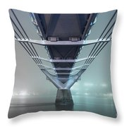 Fog - Millennium Bridge Throw Pillow