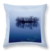 Fog Of Blue Throw Pillow