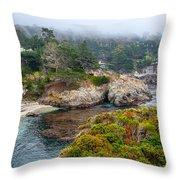 Fog On The Beach Throw Pillow