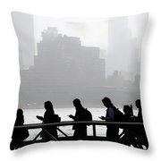 Fog On The Hudson Throw Pillow