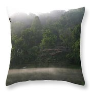 Fog On The Lake Throw Pillow