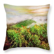 Fog On The Vines Throw Pillow