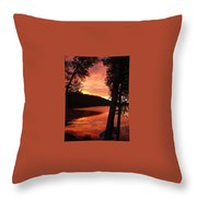 Fog On The Water Throw Pillow