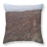 Fog Over The Hill Throw Pillow
