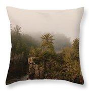 Fog Over The Saint Croix Throw Pillow