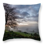 Fog Rolled In Throw Pillow