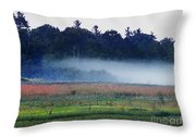 Fog Rolls In Throw Pillow